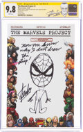 Modern Age (1980-Present):Superhero, The Marvels Project #1 Partial Blank Variant Cover with Sketch by Stan Lee - Signature Series (Marvel, 2009) CGC NM/MT...