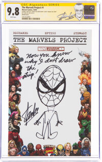 The Marvels Project #1 Partial Blank Variant Cover with Sketch by Stan Lee - Signature Series (Marvel, 2009) CGC NM/MT...