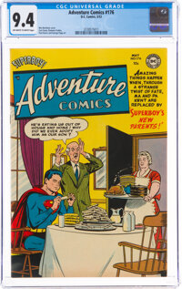 Adventure Comics #176 (DC, 1952) CGC NM 9.4 Off-white to white pages