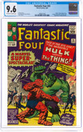 Silver Age (1956-1969):Superhero, Fantastic Four #25 (Marvel, 1964) CGC NM+ 9.6 Off-white to white pages....