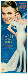 """Movie Posters:Academy Award Winners, It Happened One Night (Columbia, 1934). Very Good+ on Paper. Insert (14"""" X 36"""").. ..."""