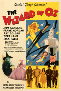 "The Wizard of Oz (MGM, 1939). Fair/Good on Linen. One Sheet (27"" X 41"") Style D"