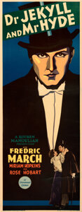 """Movie Posters:Horror, Dr. Jekyll and Mr. Hyde (Paramount, 1931). Fine+ on Paper. Insert (14"""" X 36"""").. ..."""