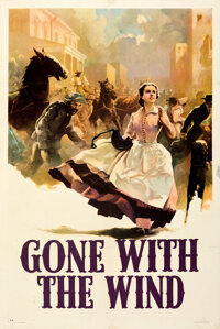 "Gone with the Wind (MGM, 1939). Fine/Very Fine on Paper. One Sheet (27.5"" X 41"") Style CP, Armando Seguso Artw..."