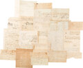 Autographs, Group of Colonial and Revolutionary War Documents with Massachusetts Militia Content. ...