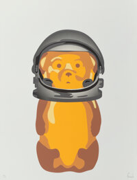 Fnnch (b. 1987) Astro Bear (Mirror Variant), 2020 Screenprint in colors on paper 24 x 18 inches (