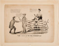 Political:Posters & Broadsides (pre-1896), [Abraham Lincoln]: Racist Currier & Ives Cartoon....