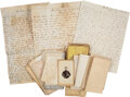 Autographs:Military Figures, Civil War Letters (3) From James Peckham with Related Letters....