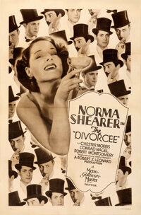 """The Divorcee (MGM, 1930). Fine/Very Fine on Linen. Rotogravure One Sheet (27.75"""" X 42"""")"""