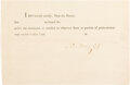 """Autographs:Military Figures, Captain John Barry Blank Payment Certificate Signed """"John Barry Capt.""""... (Total: 2 Items)"""
