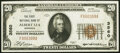 National Bank Notes:Minnesota, Albert Lea, MN - $20 1929 Ty. 1 The First National Bank Ch. # 3560 Very Fine-Extremely Fine.. ...