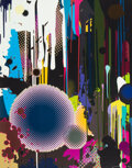 Prints & Multiples, Takashi Murakami (b. 1962). Davy Jones' Tear, 2008. Offset lithograph in colors on smooth wove paper. 33-1/2 x 26-1/4 in...