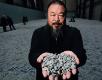 Ai Weiwei (b. 1957) Sunflower Seeds Exhibition (three works), 2010 Digital pigment photo with two gl