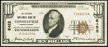 Connellsville, PA - $10 1929 Ty. 1 The Citizens National Bank Ch. # 6452 Very Fine-Extremely Fine.<