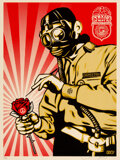 Prints & Multiples, Shepard Fairey (b. 1970). Toxicity Inspector, 2007. Screenprint in colors on speckled cream paper. 24 x 18 inches (61 x ...