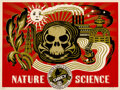 Prints & Multiples, Shepard Fairey (b. 1970). Nature Science (Green), 2006. Screenprint in colors on speckled cream paper. 18 x 24 inches (4...