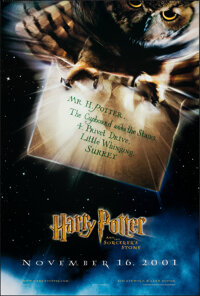 """Harry Potter and the Sorcerer's Stone (Warner Bros., 2001). Rolled, Very Fine+. One Sheet (27"""" X 40"""") DS Advan..."""