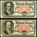 Fractional Currency:Fifth Issue, Fr. 1380 50¢ Fifth Issue About New;. Fr. 1381 50¢ Fifth Issue About New.. ... (Total: 2 notes)