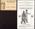 """Political:Small Paper (1896-present), Theodore Roosevelt: Campaign """"Paper"""" Inspired by Abraham Lincoln and Uncle Sam.... (Total: 2 Items)"""