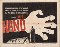 """The Hand & Other Lot (American International, 1961). Folded, Overall: Very Fine-. Half Sheet (22"""" X 28"""") &..."""