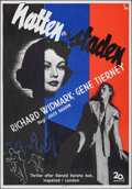 """Movie Posters:Film Noir, Night and the City (20th Century Fox, 1950). Rolled, Very Fine+. Swedish One Sheet (27.5"""" X 39.5"""") Gosta Aberg Artwork. Film..."""