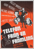"""Movie Posters:Drama, Phone Call from a Stranger (20th Century Fox, 1952). Rolled, Very Fine. Swedish One Sheet (27.5"""" X 39.5""""). Drama.. ..."""