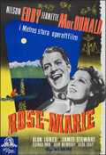 """Movie Posters:Musical, Rose Marie (MGM, R-1944). Rolled, Very Fine+. Swedish One Sheet (27"""" X 39.5"""") Jagulin Artwork. Musical.. ..."""
