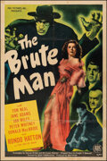 """Movie Posters:Horror, The Brute Man (PRC, 1946). Fine- on Linen. One Sheet (27"""" X 41""""). Horror.. ..."""