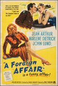 """Movie Posters:Comedy, A Foreign Affair (Paramount, 1948). Very Good/Fine on Linen. One Sheet (27.25"""" X 40.5""""). Comedy.. ..."""