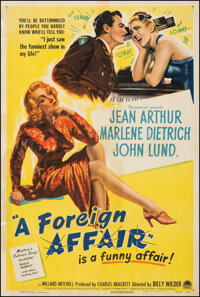 """A Foreign Affair (Paramount, 1948). Very Good/Fine on Linen. One Sheet (27.25"""" X 40.5""""). Comedy"""