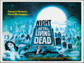 """Movie Posters:Horror, Night of the Living Dead (Target International, R-1978). Rolled, Very Fine. British Quad (30"""" X 40"""") Tom Chantrell Artwork. ..."""