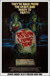 """The Return of the Living Dead (Orion, 1985). Rolled, Very Fine+. Half Subway (29.5"""" X 45"""") Carl Ramsey Artwork..."""