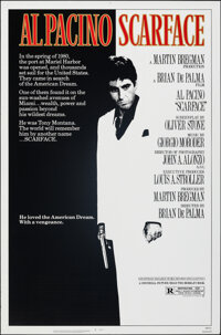 """Scarface (Universal, 1983). Rolled, Very Fine. One Sheet (27"""" X 41"""") Mike Bryan Artwork. Crime"""