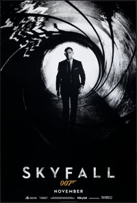"Skyfall (MGM, 2012). Rolled, Very Fine. One Sheet (27"" X 40"") SS Advance. James Bond"