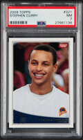 Basketball Cards:Singles (1980-Now), 2009 Topps Stephen Curry #321 PSA NM 7. ...