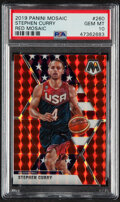 Basketball Cards:Singles (1980-Now), 2019 Panini Mosaic Stephen Curry (Red Mosaic) #260 PSA Gem Mint 10....