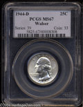 Washington Quarters: , 1944-D 25C MS67 PCGS. Ex: Walser. Booming luster and ...