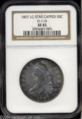 Bust Half Dollars: , 1807 50C Capped Bust, Large Stars XF45 NGC. O-114, R.3. A ...