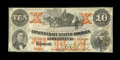 Confederate Notes:1861 Issues, T23 $10 1861 Cr. 153 PF-1.. ...