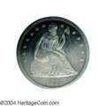 Seated Dollars: , 1855 $1 AU58 PCGS. Like the 1854, the 1855 did not see ...