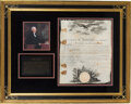 Autographs:U.S. Presidents, Thomas Jefferson Military Appointment Signed. ...