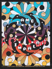 """Tame Impala (Merriweather Post Pavilion, 2016). Rolled, Very Fine. Screen Print Poster (18"""" X 23.75""""). Rock an..."""