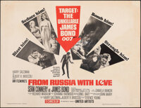 "From Russia with Love (United Artists, 1964). Fine on Paper. Half Sheet (22"" X 28""). James Bond"