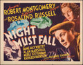 """Movie Posters:Thriller, Night Must Fall (MGM, 1937). Rolled, Fine+. Half Sheet (22"""" X 28""""). Thriller.. ..."""
