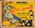 """Movie Posters:Musical, No, No, Nanette (RKO, 1940). Rolled, Fine. Half Sheet (22"""" X 28""""). Musical.. ..."""