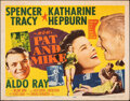 """Movie Posters:Comedy, Pat and Mike (MGM, 1952). Folded, Fine+. Half Sheet (22"""" X 28"""") Style A. Comedy.. ..."""
