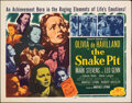 """Movie Posters:Drama, The Snake Pit (20th Century Fox, R-1953). Rolled, Very Fine-. Half Sheet (22"""" X 28""""). Drama.. ..."""
