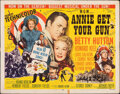 """Movie Posters:Musical, Annie Get Your Gun (MGM, 1950). Folded, Fine. Half Sheet (22"""" X 28"""") Style A. Musical.. ..."""
