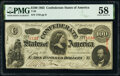Confederate Notes:1863 Issues, T56 $100 1863 PF-1 Cr. 403 PMG Choice About Unc 58.. ...