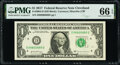 Small Size:Federal Reserve Notes, Radar-Repeater-Rotator Serial Number 08800880 Fr. 3004-D $1 2017 Federal Reserve Note. PMG Gem Uncirculated 66 EPQ.. ...